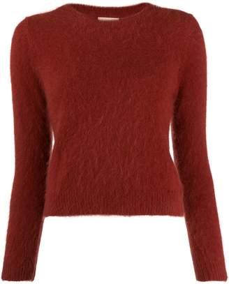Bellerose round neck fuzzy knit jumper