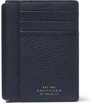 Smythson Burlington Full-Grain Leather Cardholder - Navy