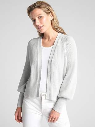 Gap Open-Front Balloon Sleeve Cardigan Sweater