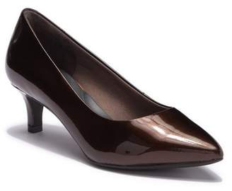 Rockport Kalila Luxe Leather Kitten Heel Pump - Wide Width Available