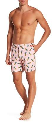 Trunks Mosmann Australia Pineapple Print Tailor Made Swim Shorts