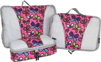 Mia Toro Italy Butterflies 3-Piece Packing Cubes