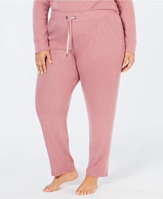 Alfani Plus Size Ribbed Hacci Sweater-Knit Pajama Pants