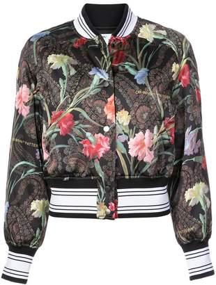 Off-White floral bomber jacket