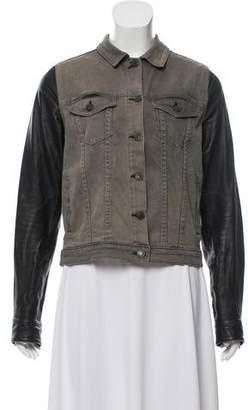 Rag & Bone Leather Denim Jacket