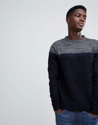 Soul Star Colour Block Jumper