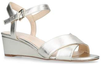 Nine West Gold 'Lucyme' Low Wedge Sandals