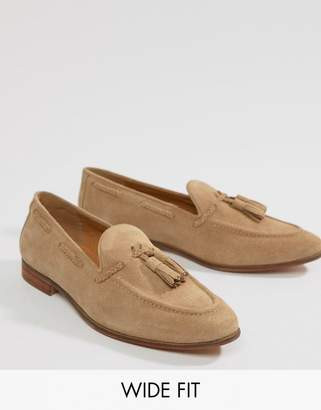 KG by Kurt Geiger KG Kurt Geiger Wide Fit Tassel Loafers In Camel Suede