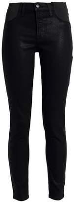 J Brand Coated Mid-Rise Skinny Jeans