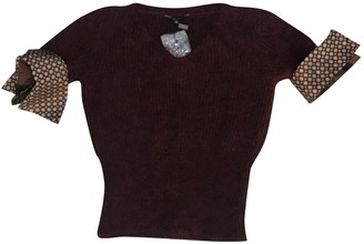 Gianfranco Ferre Burgundy Wool Knitwear