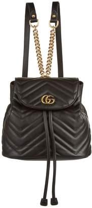 Gucci Marmont Matelasse Drawstring Backpack