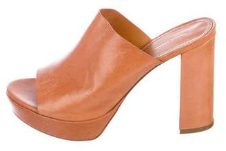Mansur Gavriel Leather Platform Sandals