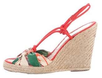 Stella McCartney T-Strap Wedge Sandals