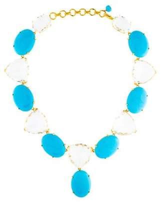 Bounkit Turquoise & Quartz Collar Necklace