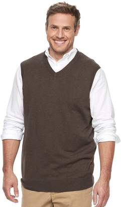 Croft & Barrow Big & Tall Classic-Fit Easy-Care Sweater Vest