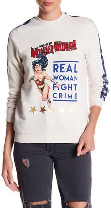 ELEVENPARIS 'Real Woman Fight Crime' Wonder Woman Sweatshirt $105 thestylecure.com