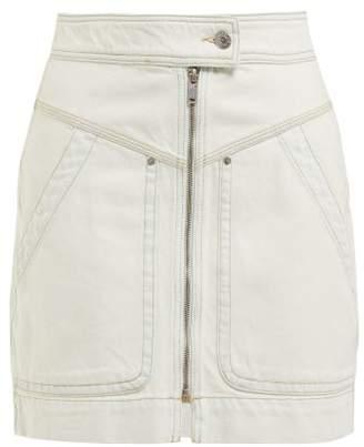 Etoile Isabel Marant Ioline Denim Mini Skirt - Womens - Light Blue