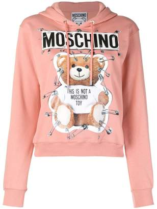 Moschino safety pin Teddy Bear hoodie