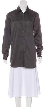 Dries Van Noten Bead-Embellished Long Sleeve Tunic Bead-Embellished Long Sleeve Tunic