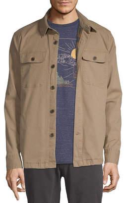 ST. JOHN'S BAY Outdoor Flannel Lined Lightweight Shirt Jacket