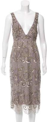 Nicole Miller Embellished Midi Dress w/ Tags