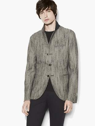 John Varvatos Deconstructed Houndstooth Jacket