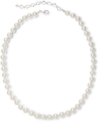 VIESTE ROSA Vieste Silver-Tone Pearlized Glass Bead Long Necklace