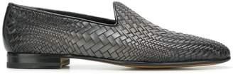 Santoni faded woven loafers
