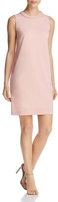 DKNY Braided Neck Shift Dress $159 thestylecure.com