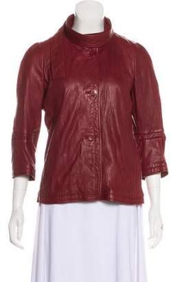 Marni Leather Long Sleeve Jacket