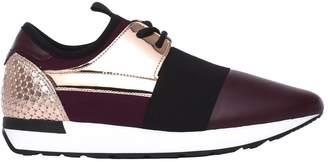 Pollini Burgundy/powder Pink Sneakers