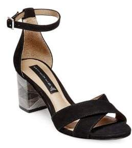 Steve Madden Steven by Voomme Leather Stacked Heel Sandals