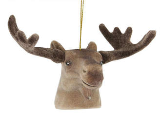 Asstd National Brand 3.5 Brown Moose Head with Large Antlers Christmas Ornament