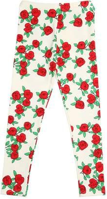 Mini Rodini Roses Organic Cotton Jersey Leggings