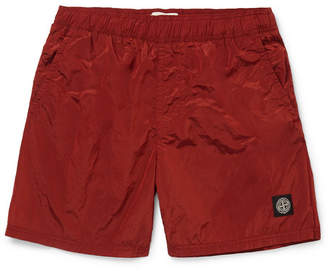 Stone Island Wide-Leg Mid-Length Swim Shorts