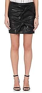 Etoile Isabel Marant Women's Gritanny Lambskin Miniskirt-Black