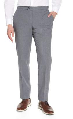 Hickey Freeman H BY Houndstooth Flat Front Trouser with Sidetab