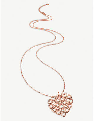 Folli Follie Fashionably Silver Stories rose-gold plated silver long necklace