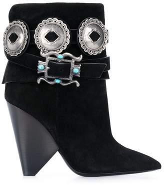 Saint Laurent Western ankle boots