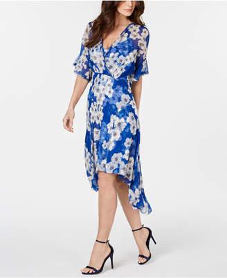 2bb97415c46f4 Elie Tahari Flutter-Sleeve Printed Silk Dress
