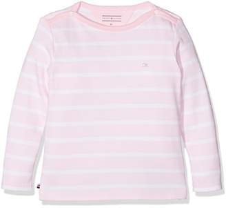 Tommy Hilfiger Girls' Light Baby BN Knit L/S Long Sleeve Top