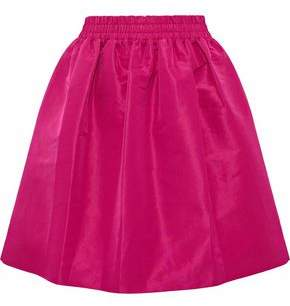 RED Valentino Gathered Faille Mini Skirt