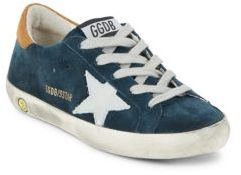 Boy's Lace-Up Leather Sneakers $265 thestylecure.com