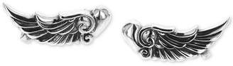 King Baby Studio Women's Wing Heart Cuff Earrings in Sterling Silver