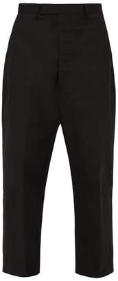 Rick Owens Karloff Wide Leg Cotton Blend Twill Trousers - Mens - Black