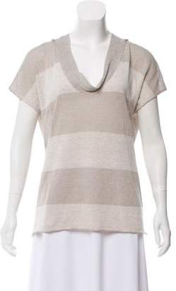 Fabiana Filippi Metallic Short Sleeve Top