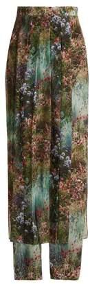 Max Mara Canneti Trousers - Womens - Green Print
