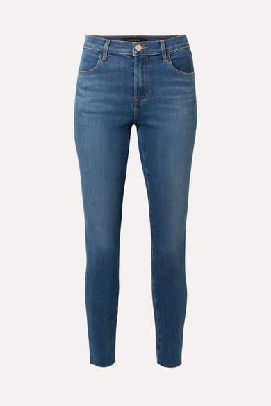 Alana Cropped Frayed High-rise Skinny Jeans - Mid denim