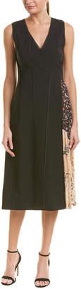 Jason Wu Contrast Silk-Lined Midi Dress