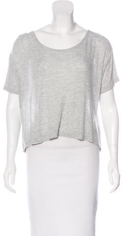 Alexander Wang T by Alexander Wang Cropped Short Sleeve Top